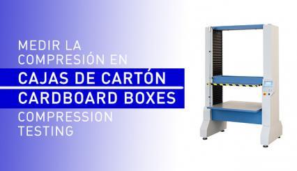 Ensayos de compresión en cajas de cartón