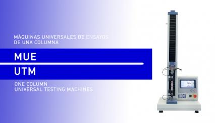 Universal Testing Machines of one column for plastic testings in the laboratory.