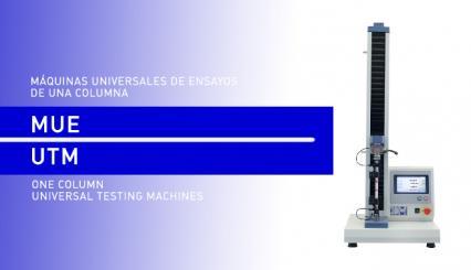 Máquinas Universales de Ensayos de una columna para hacer ensayos en plásticos en el laboratorio.