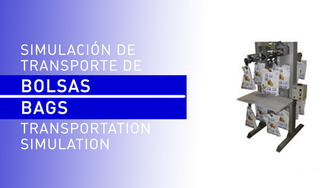 Bags transportation simulation in laboratory